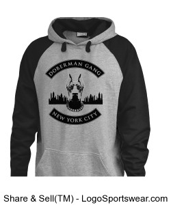 Adult Vintage Grey Hoodie Design Zoom